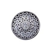 Quiges - Drukknoop 18mm Zirkonia Ornament - EBCM360