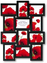 ZEP -  Multi Fotolijst Rhoda Zwart voor foto formaat 12x 10x15 - PI02584