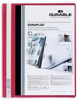 43x Durable personaliseerbare snelhechtmap Duraplus rood