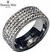 Edelstaal dames ring met zuivere zirkonia steentjes van Tesoro Mio Michel (maat 54, 17,2 mm)