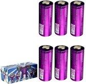6 Stuks - Efest IMR26650 4200mAh 3.7V 50A lithiumbatterij