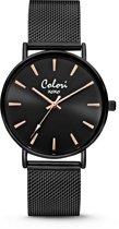 Colori XOXO 5 COL449 Horloge - Mesh Band - Ø 36 mm - Zwart