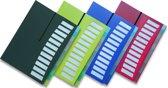 """EXXO-HFP #40267 - A4 """"Hand-out""""- Huiswerk- Projectmap - 12 tassen/tabs - Zwart - 1 stuks"""
