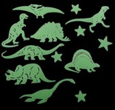 Glow In The Dark Dino / Dinosaurus / Dino's / Dinosauriërs / Dinosaurussen kinderkamer decoratie lichtknop nachtlampje muur sticker