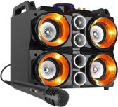 Karaokeset - Fenton MDJ200 Party Station 150W op accu met o.a. Bluetooth