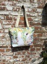 """Handtas - Tas - Shopper met print van gekend schilderij """"lilies"""" van Karl Frieseke"""