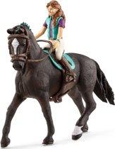 Schleich Lisa en Storm 42516 - Paard Speelfiguur - Horse Club - 5 x 18 x 15 cm