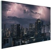 Onweersbui boven Bangkok Glas 60x40 cm - Foto print op Glas (Plexiglas wanddecoratie)