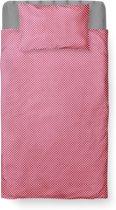 Dekbedovertrek Peuter - Katoen - 120 x 150 - Paars - Baby Dots Purple incl. Kussensloop