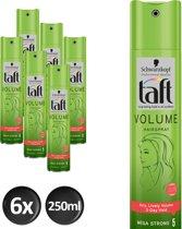 Schwarzkopf Taft Volume Mega Strong Haarspray 250 ml - 6 stuks - Voordeelverpakking