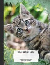 Cute Tabby Cat Composition Notebook, College Ruled