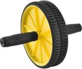 Fitness wiel - Buikspier - 18 cm - Buikspierwiel - Zwart - Geel