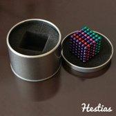 NIEUW NU EXTRA STERK - Magneetballetjes - Multi color - 5mm - Magnetische Balletjes - Buckyballs Neocube - Magnetisch Speelgoed - Magnetic Balls – Anti Stress Speelgoed - Bucky Balls - Geleverd In Mooi Metalen Geschenkdoosje - Kado Tip / Hestias®