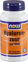 NOW MSM en Hyaluronzuur 60 vegicapsules