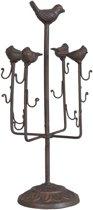 6Y1482 - Juwelenhouder - Doorsnede/hoogte: 17 x 37 cm - ijzer - chocola