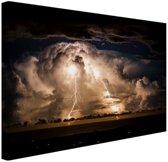 FotoCadeau.nl - Stormachtige nacht over Byron Bay Canvas 30x20 cm - Foto print op Canvas schilderij (Wanddecoratie)