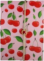 Notitieboek A4 Kersjes Roze - Gelijnd - Happybook
