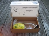 Zeephouder / Zeepstang Provendi met Zeepbol Geel