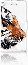 LG G7 Thinq Uniek Boekhoesje Watercolor Tiger