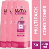 L'Oréal Paris Elvive Nutri-Gloss Conditioner - 3x 200ml - Voordeelverpakking