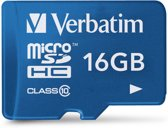 Verbatim Tablet Micro SDHC 16GB Class 10 UHS-I incl Adapter