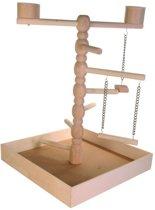 Trixie Speelplaats Voor Agapornis En Parkiet - Vogelspeelgoed - Hout - 41 x 41 x 55 cm