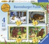 Ravensburger puzzel The Gruffalo - Vier puzzels 12+16+20+24 stukjes - kinderpuzzel