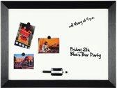3x Bisilque Kamashi magnetisch whiteboard met zwart kader