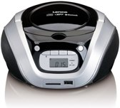 Lenco SCD-330 - Radio CD-speler met MP3, USB, SD en Bluetooth - Zilver