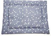 Briljant Baby boxkleed - spots iron 80x100 cm