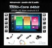 autoradio android inclusief 2-DIN FIAT (500) 2007+  frame Audiovolt 11-322
