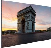 FotoCadeau.nl - Arc de Triomphe bij zonsopkomst Aluminium 90x60 cm - Foto print op Aluminium (metaal wanddecoratie)