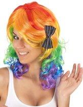 """""""Regenboog pruik voor vrouwen - Verkleedpruik - One size"""""""
