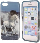 iPhone 5C Special Silicon Case Hoesje - Horse Love