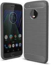 Motorola Moto G5 Plus hoesje - Rugged TPU Case - grijs