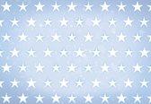 Fotobehang Stars Pattern Blue   XXL - 312cm x 219cm   130g/m2 Vlies