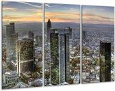 Canvas schilderij Steden | Geel, Blauw, Grijs | 120x80cm 3Luik