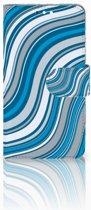 Nokia 8 Sirocco | Nokia 9 Boekhoesje Design Waves Blue