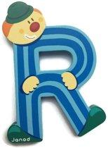 Janod Clown Letter - letter R - Blauw
