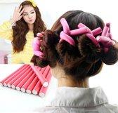 Soft Foam Hair Curler Haarkrulset - Haarrollers / Haarkrullers / Krulspelden Set - Foam Papillotten - Krullen - Hair Foam Rollers - Schuim Papillot Daiou 10 Stuks