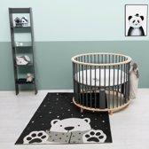Kindervloerkleed ijsbeer Vini - zwart 120x170 cm