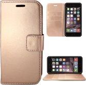 Apple iPhone 6/6s Hoesje Lederen Bookcase met Siliconen TPU Telefoonhouder - Rose Goud - van iCall