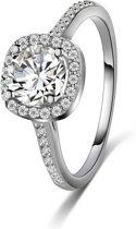 Fate Jewellery Ring FJ124 - 18mm - Zilverkleurig met zirkonia kristal