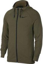 Nike Dry-Fit Hoodie Sportvest Heren - Groen/Zwart
