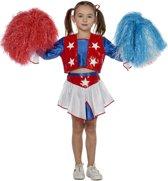 Carnavalskleding Cheerleader USA meisje Maat 164