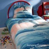 Dekbedovertrek Kinder - Jumping Dolfijn - 140x200