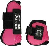 Qhp Peesbeschermerset  Protect - Dark Pink - paard