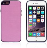 Crocodile TPU/PU Leren Softcase iPhone 6(s) plus - Roze