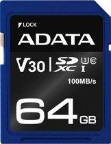 ADATA ASDX64GUI3V30S-R flashgeheugen 64 GB SDXC Klasse 10 UHS-I