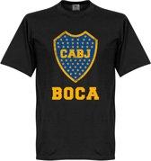 Boca Juniors Logo T-Shirt - Zwart - S
